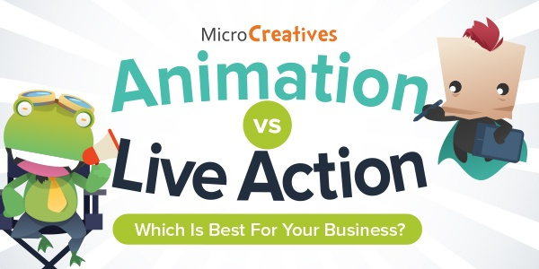Animation Vs. Live Action Videos: Here's How You Decide Which is Best For Your Biz