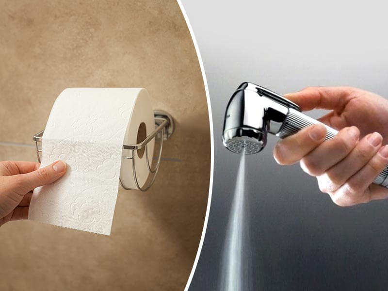Water vs. Toilet Paper: Improve Your Health as of Today